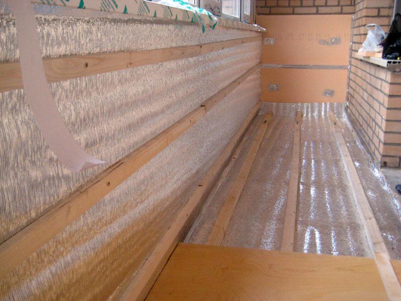 Утепление балконов пеноплексом своими руками